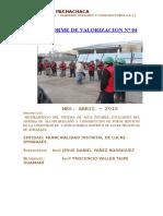 Informe Nº 04 Cayhuachahua