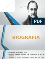 Biografia Augusto Comte