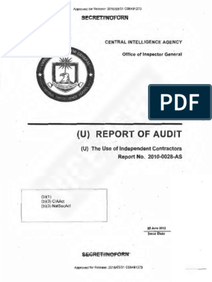 CIA OIG Audit Independent Contractors | Government