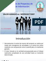Valor Ganado Utilizando Microsoft Office Project 2007