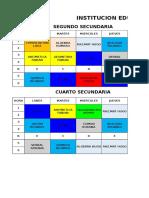 Horarios General Peruano Ruso