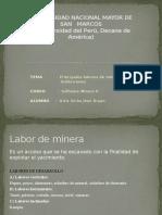Labores de mina