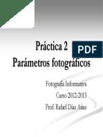 Parámetros fotografía