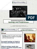 Apology and Forgiveness