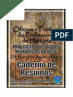 Caderno de Resumos do XXIV Ciclo de Estudos Históricos da UESC