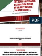 Análisis de de Textos Revisados en La Construcción de la historia del arte de la deontologia docente