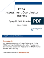 pssa administration training