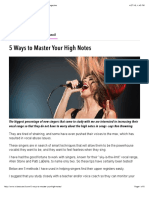 5 Ways to Master Your High Notes | VoiceCouncil Magazine