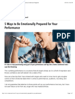 5 Ways to Be Emotionally Prepared for Your Performance   VoiceCouncil Magazine