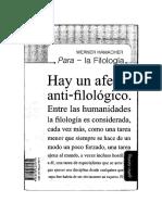 Werner Hamacher Para La Filologc3ad