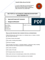 Fire Systems Review Checklists