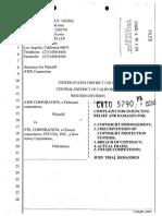 AWR vs. ZTE Complaint for Injunctive Relief & Damages