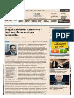 Draghi Ai Tedeschi_ «Alzare Ora i Tassi Sarebbe Un Male Per l'Economia» - Il Sole 24 ORE