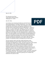 US Department of Justice Civil Rights Division - Letter - tal518a