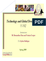 Technology and Global Development - Lecture 1