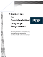 guidelines for cook islands mŕori  language  programmes