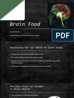 rachels brain food presentation