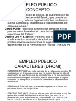 Empleo Público Concepto - Naturaleza Juridica