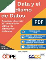 AFICHE Chiclayo datos abiertos y periodismo