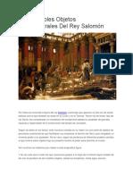 Los Increíbles Objetos Sobrenaturales Del Rey Salomón