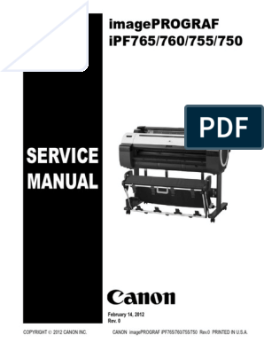 Canon Ipf760 - Service Manual   Printer (Computing)   Signal
