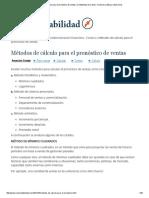1.- Metodos de Calculo Para El Pronostico De