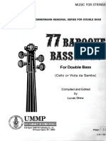 77 Baroque Bass Lines for Doublebass