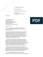 US Department of Justice Civil Rights Division - Letter - tal522