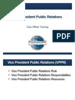 1313E Vice President Public Relations Slides