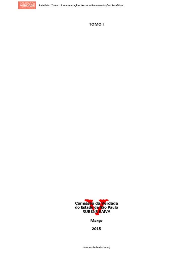 relatório completo da comissão estadual da verdade de são paulo. 7c13d722d580e