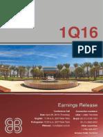 Earnings Release 1Q16