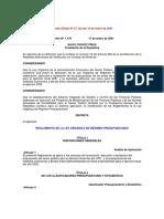 Ley Orgánica de Régimen Presupuestario - Notilogía