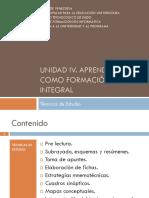 Unidad IV Aprendizaje Como Formación Integral_ Tecnicas de Estudio