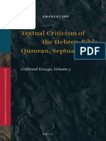 (Supplements to Vetus Testamentum 167) Emanuel Tov-Textual Criticism of the Hebrew Bible, Qumran, Septuagint_ Collected Essays, Volume 3-Brill Academic Publishers (2015)