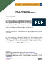 Problemas de precisión del discurso jurídico (aproximación desde el ámbito de la asesoría lingüística)