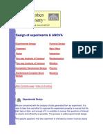 Design of Experiments & ANOVA