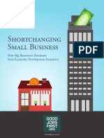 Shortchanging Small Business