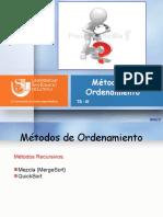 Metodos de Ordenamiento Recursivos e Iterativos (1)