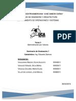 Implementación de Administración por Valores (GESEL)