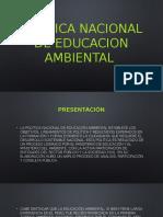 Politica Nacional de Educacion Ambiental Diapo