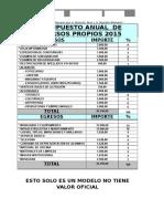 Modelo Plan Anual 2015