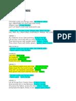 o Sifuni Mungu Lyric Sheet