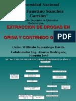 Extraccion de Drogas en Orina y Contenido Gastrico
