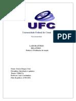 Universidade Federal Do Ceará-relatorio Quim