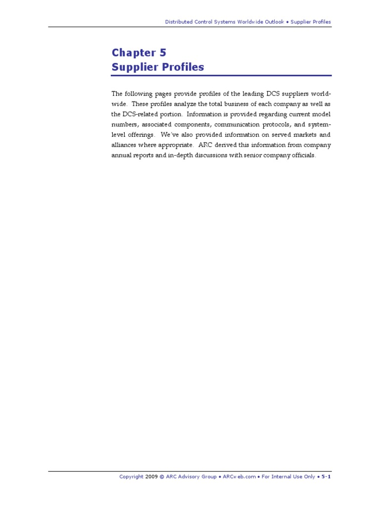 DCS Worldwide Profiles 09 | Scada | Automation