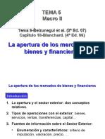 Apertura Mercados de Bienes Financieros
