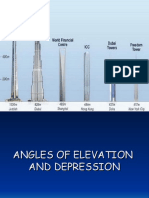 f 4 Angles of Elevation @@