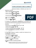 Solucion Diferenciar El Complemento Directo Del Complemento Indirecto 119