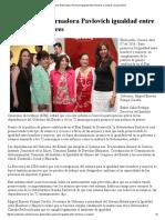 07/04/16 Promueve Gobernadora Pavlovich igualdad entre hombres y mujeres -Canal Sonora