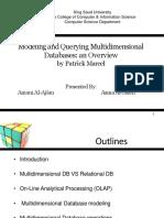 Bases de Datos Multidimensionales 1